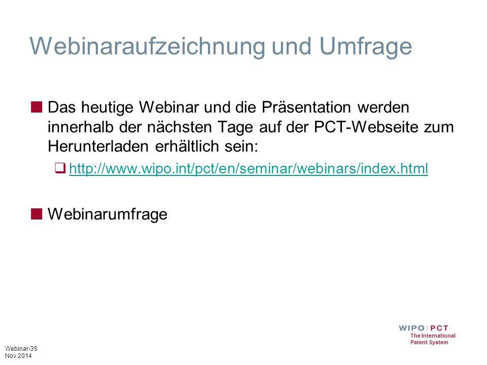 Webinaraufzeichnung und Umfrage
