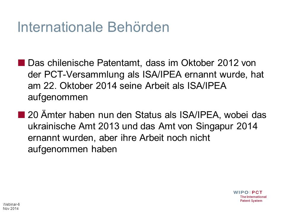 Internationale Behörden