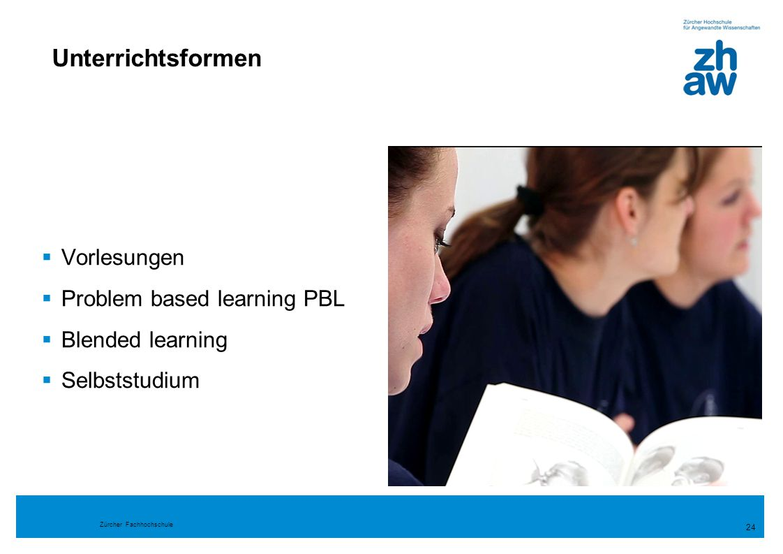 Unterrichtsformen Vorlesungen Problem based learning PBL