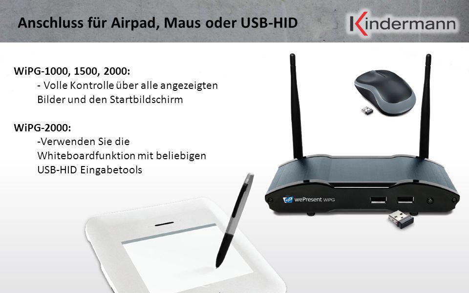 Anschluss für Airpad, Maus oder USB-HID