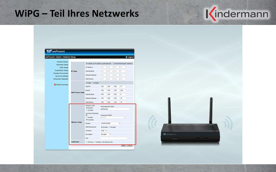 WiPG – Teil Ihres Netzwerks