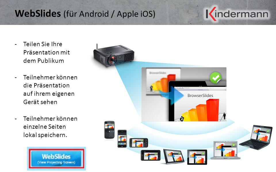 WebSlides (für Android / Apple iOS)