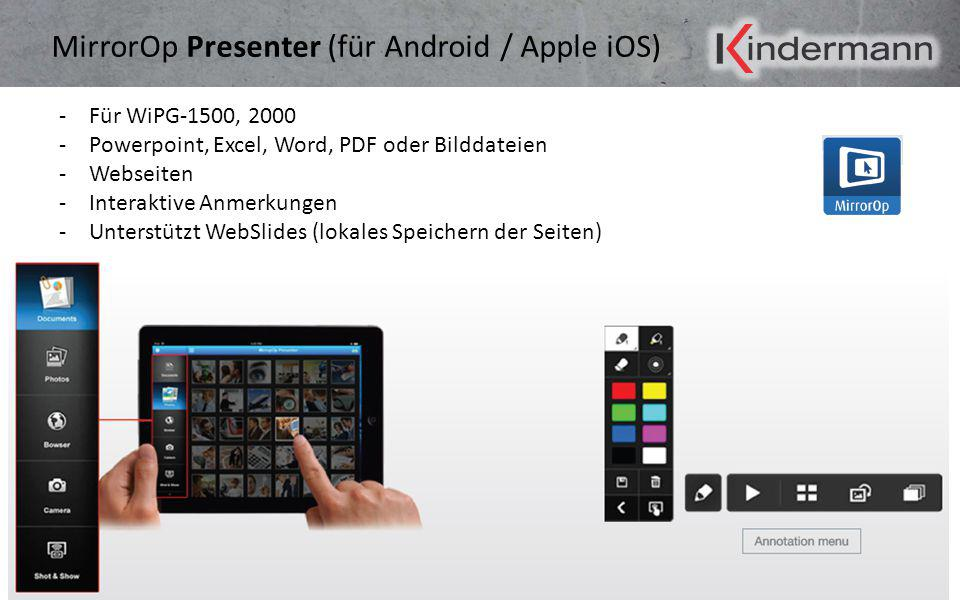 MirrorOp Presenter (für Android / Apple iOS)