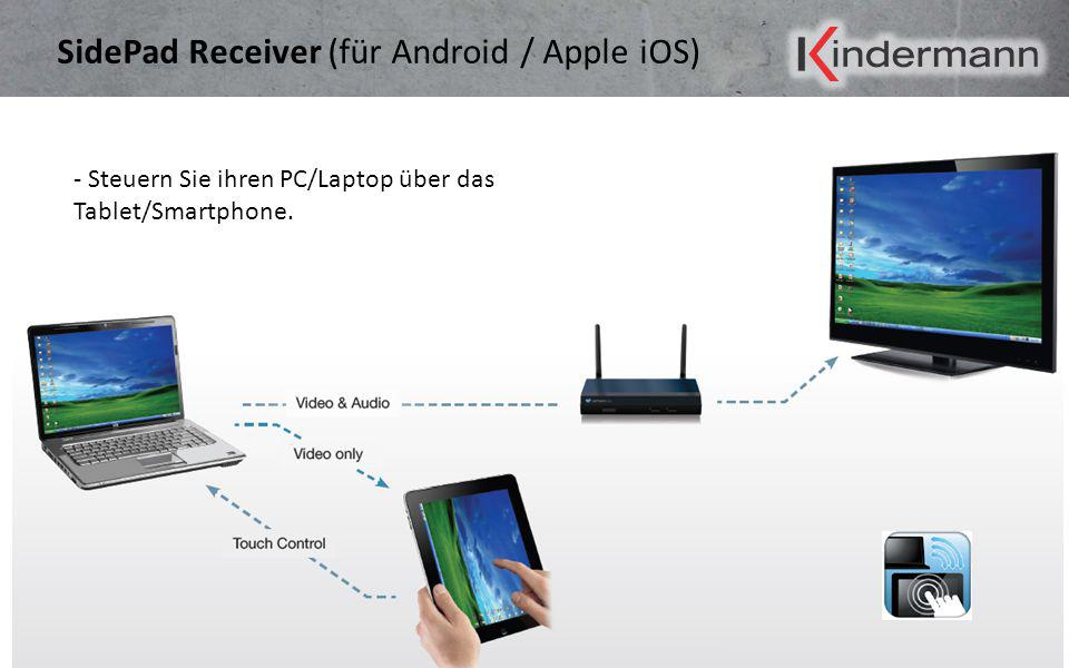 SidePad Receiver (für Android / Apple iOS)