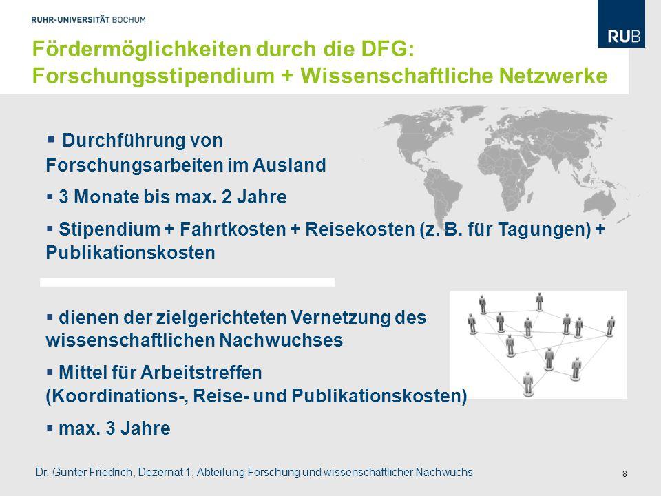 Durchführung von Forschungsarbeiten im Ausland