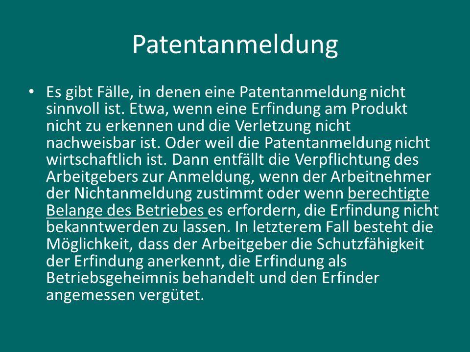 Patentanmeldung