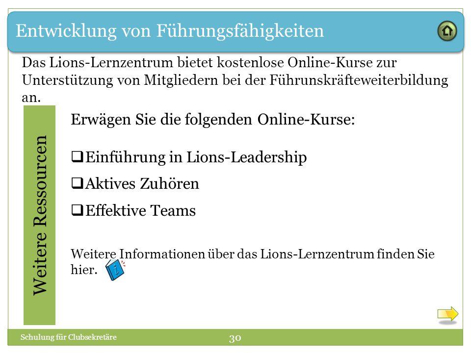 Entwicklung von Führungsfähigkeiten