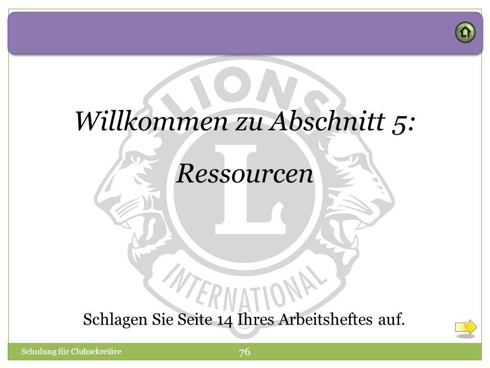 Willkommen zu Abschnitt 5: Ressourcen