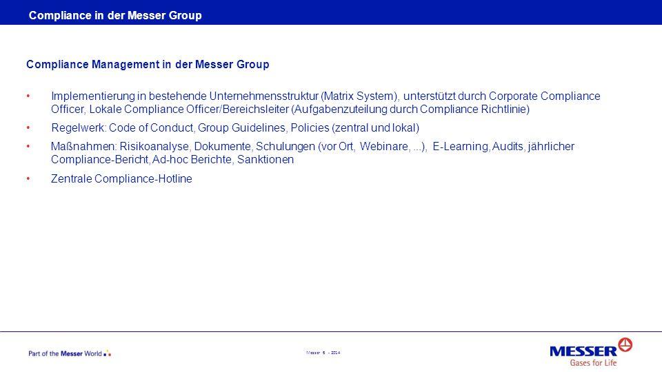 Compliance in der Messer Group