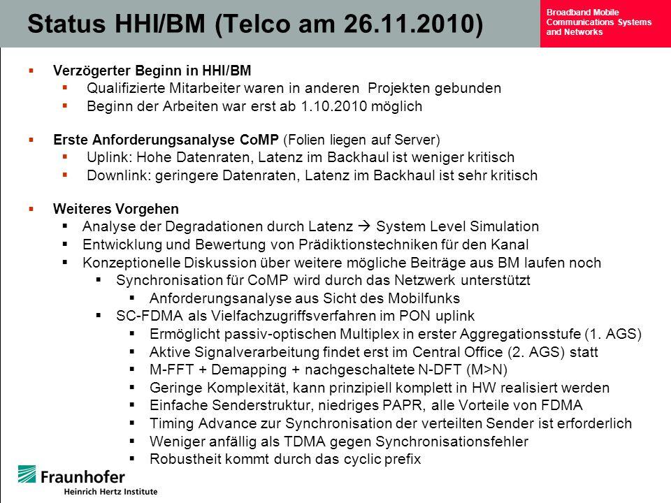 Status HHI/BM (Telco am 26.11.2010)