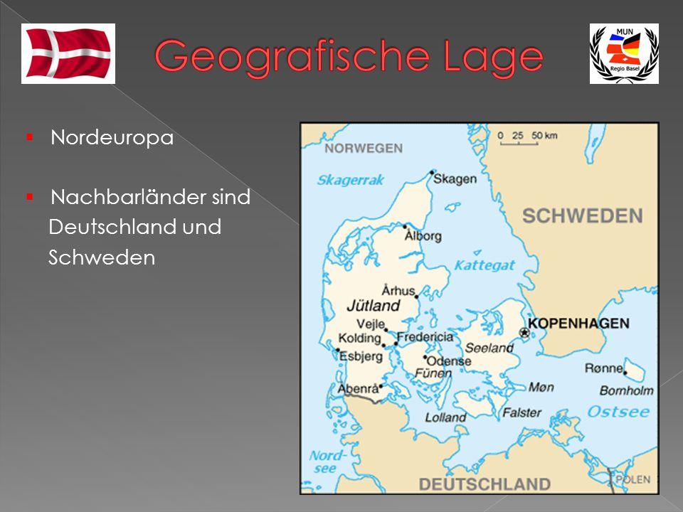 Geografische Lage Nordeuropa Nachbarländer sind Deutschland und