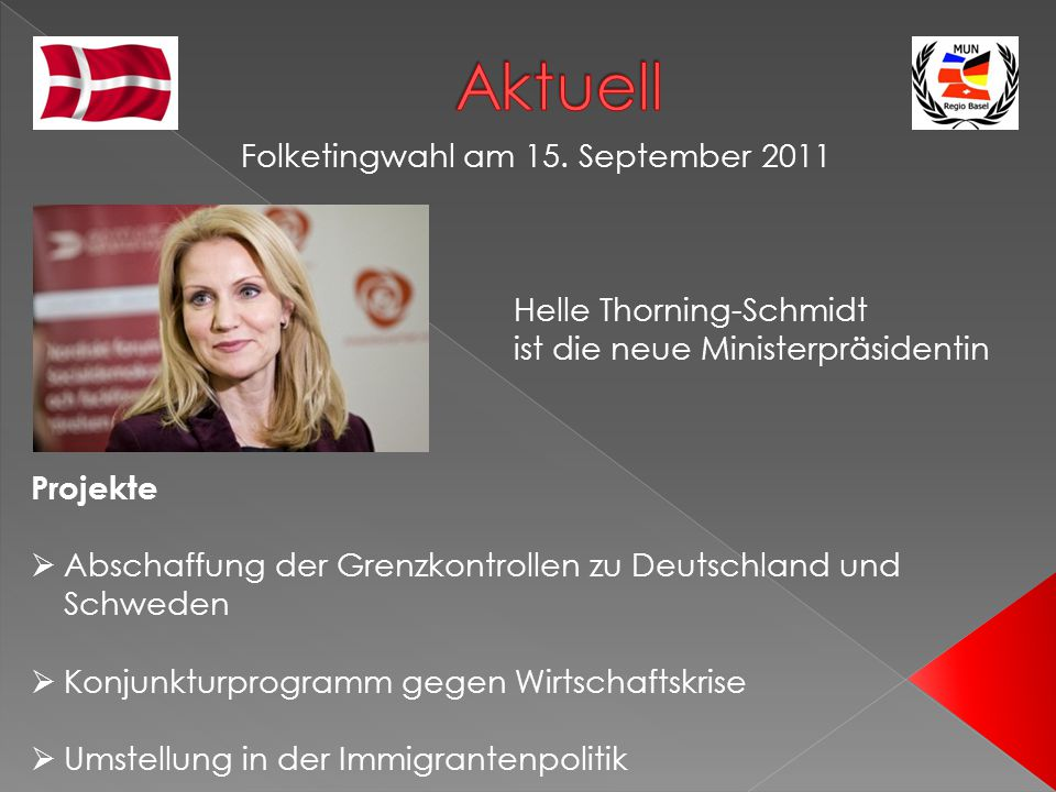 Aktuell Folketingwahl am 15. September 2011 Helle Thorning-Schmidt