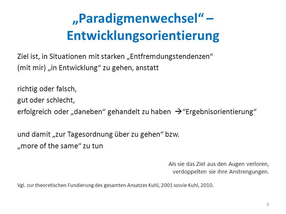 """""""Paradigmenwechsel – Entwicklungsorientierung"""