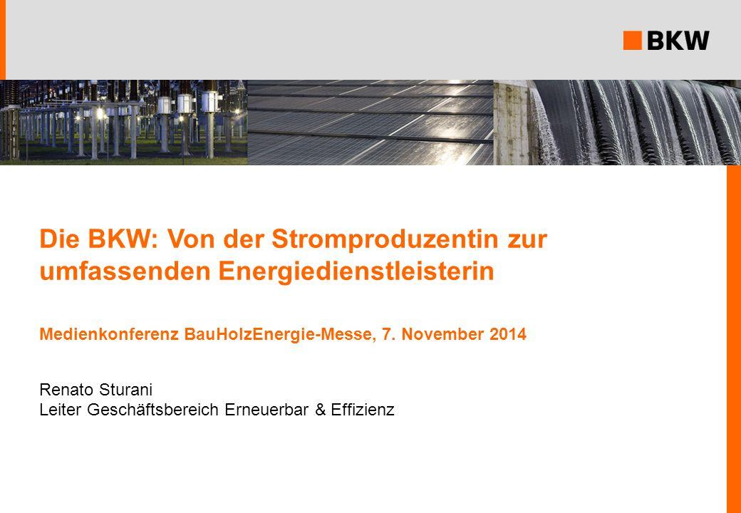 Die BKW: Von der Stromproduzentin zur