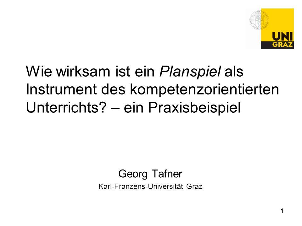 Georg Tafner Karl-Franzens-Universität Graz