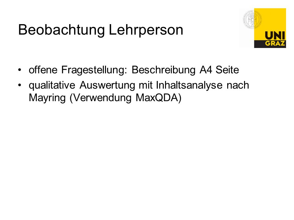 Beobachtung Lehrperson