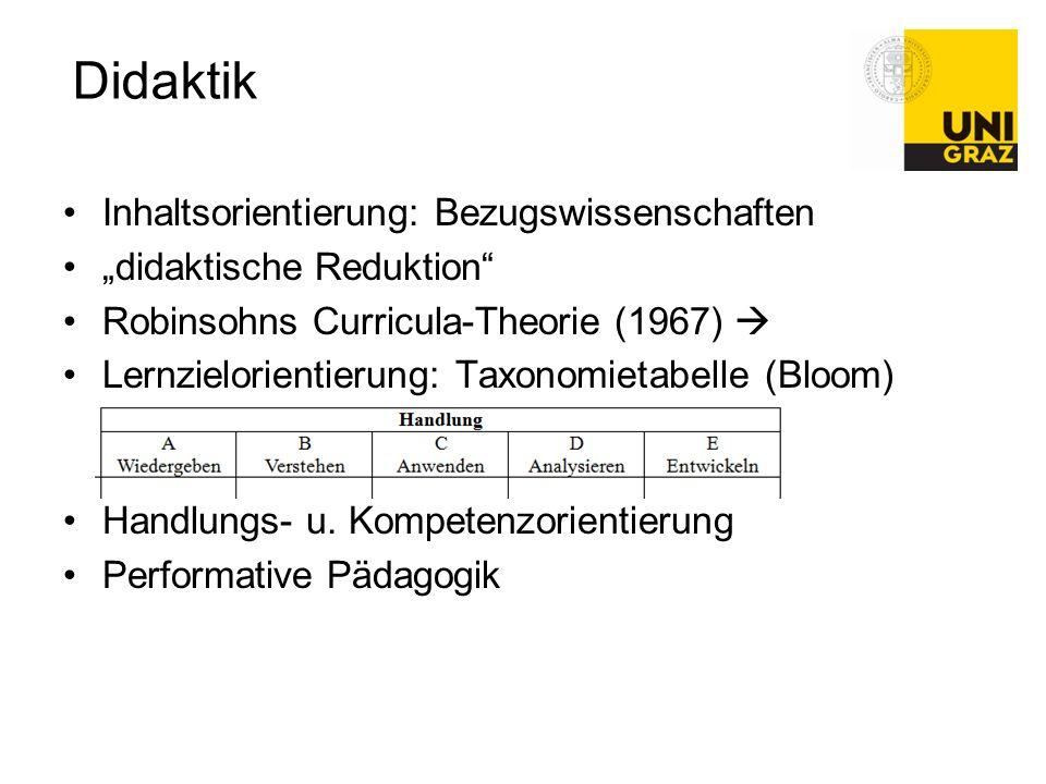 Didaktik Inhaltsorientierung: Bezugswissenschaften
