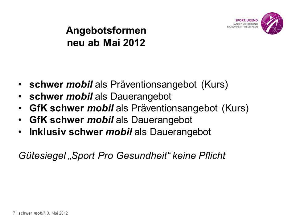 Angebotsformen neu ab Mai 2012