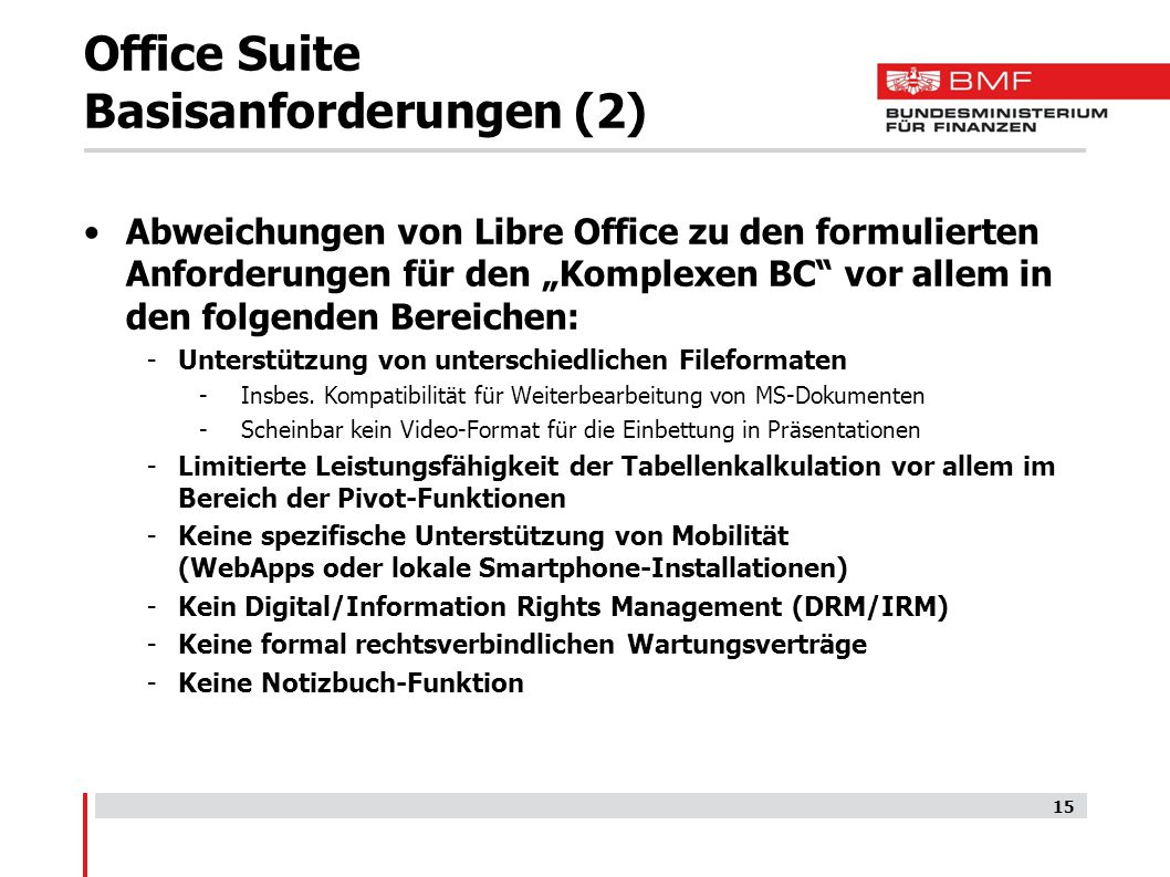 Office Suite Basisanforderungen (2)