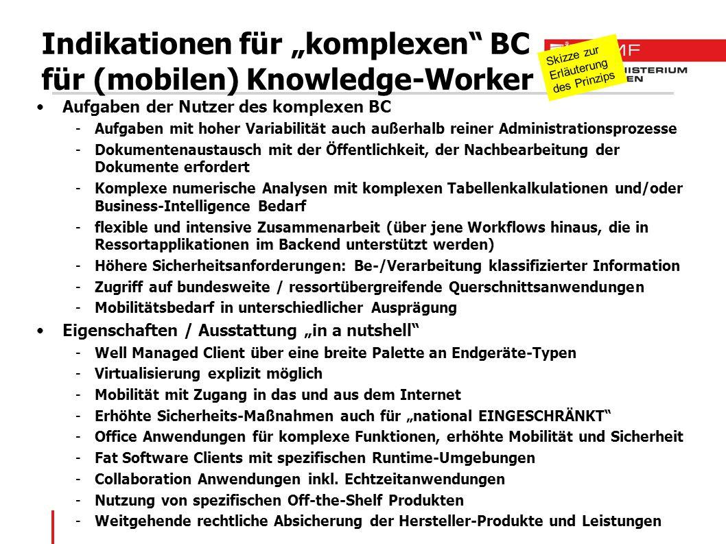 """Indikationen für """"komplexen BC für (mobilen) Knowledge-Worker"""