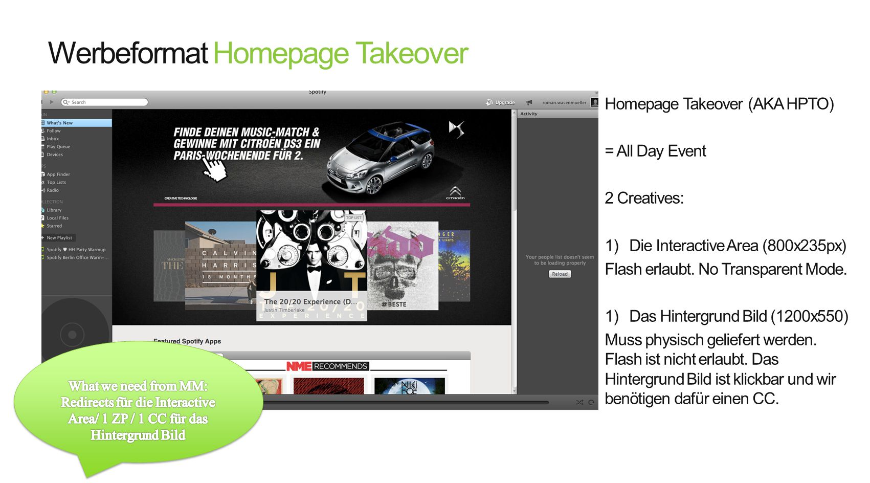 Werbeformat Homepage Takeover