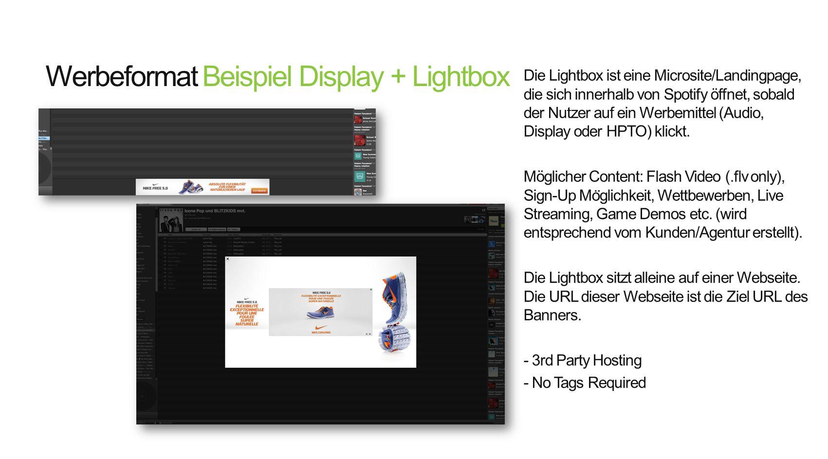 Werbeformat Beispiel Display + Lightbox