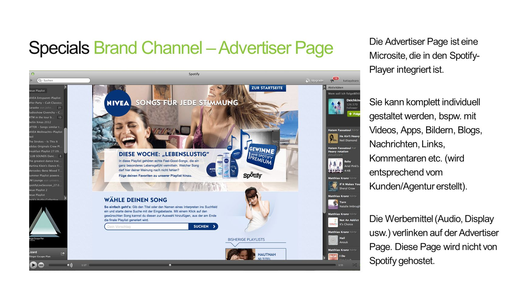 Specials Brand Channel – Advertiser Page