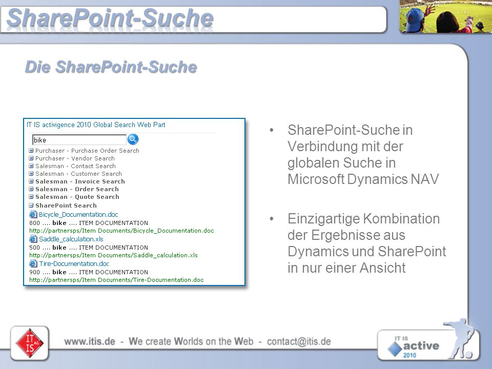 SharePoint-Suche Die SharePoint-Suche