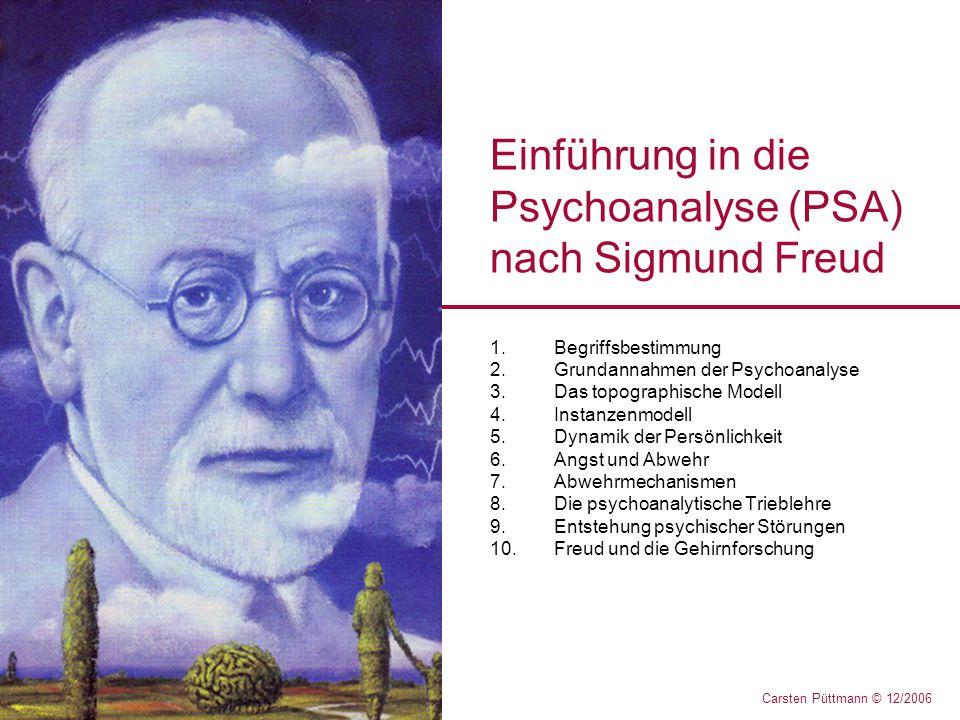 Einführung in die Psychoanalyse (PSA) nach Sigmund Freud