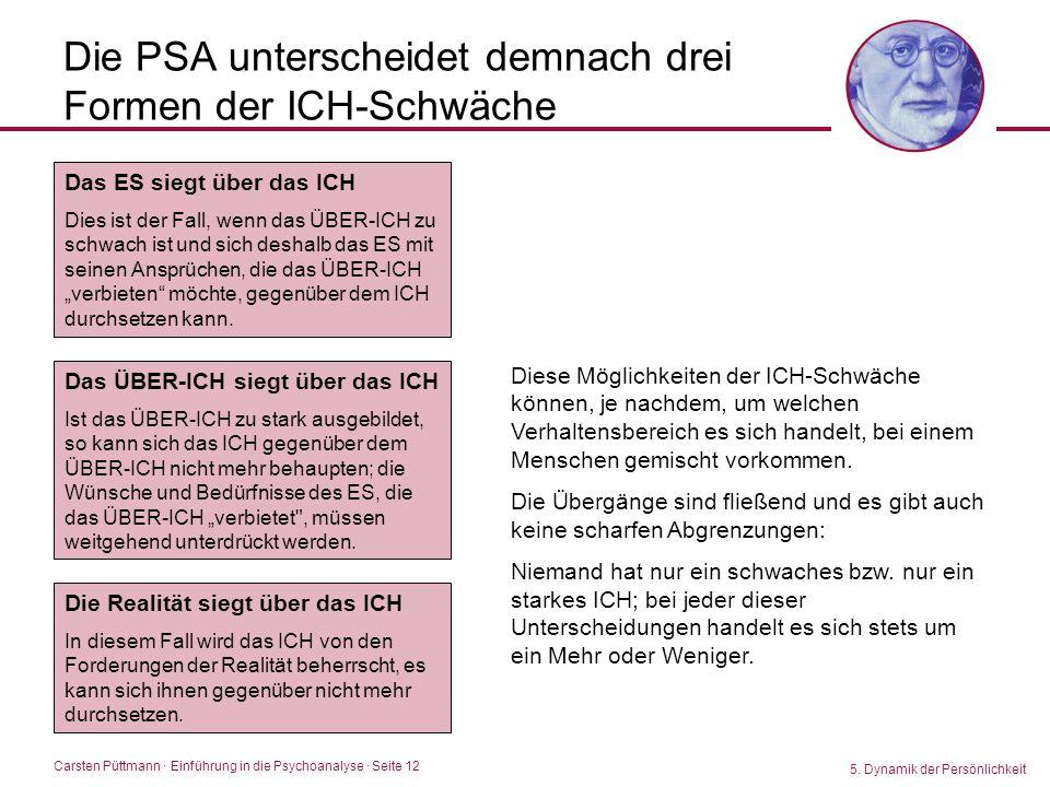 Die PSA unterscheidet demnach drei Formen der ICH-Schwäche