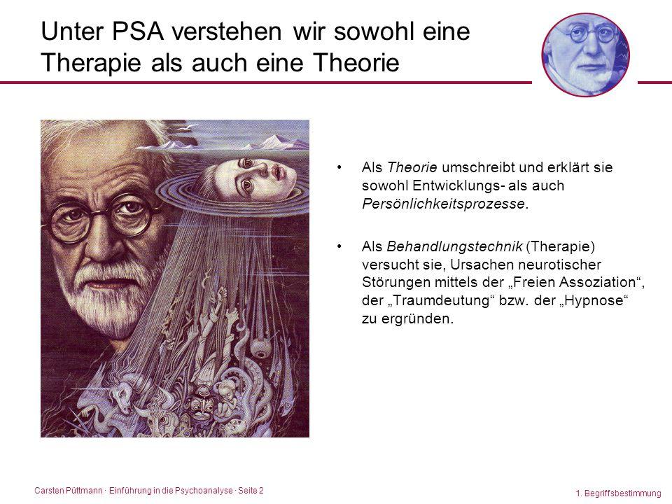 Unter PSA verstehen wir sowohl eine Therapie als auch eine Theorie