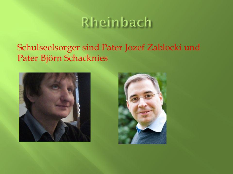 Rheinbach Schulseelsorger sind Pater Jozef Zablocki und Pater Björn Schacknies