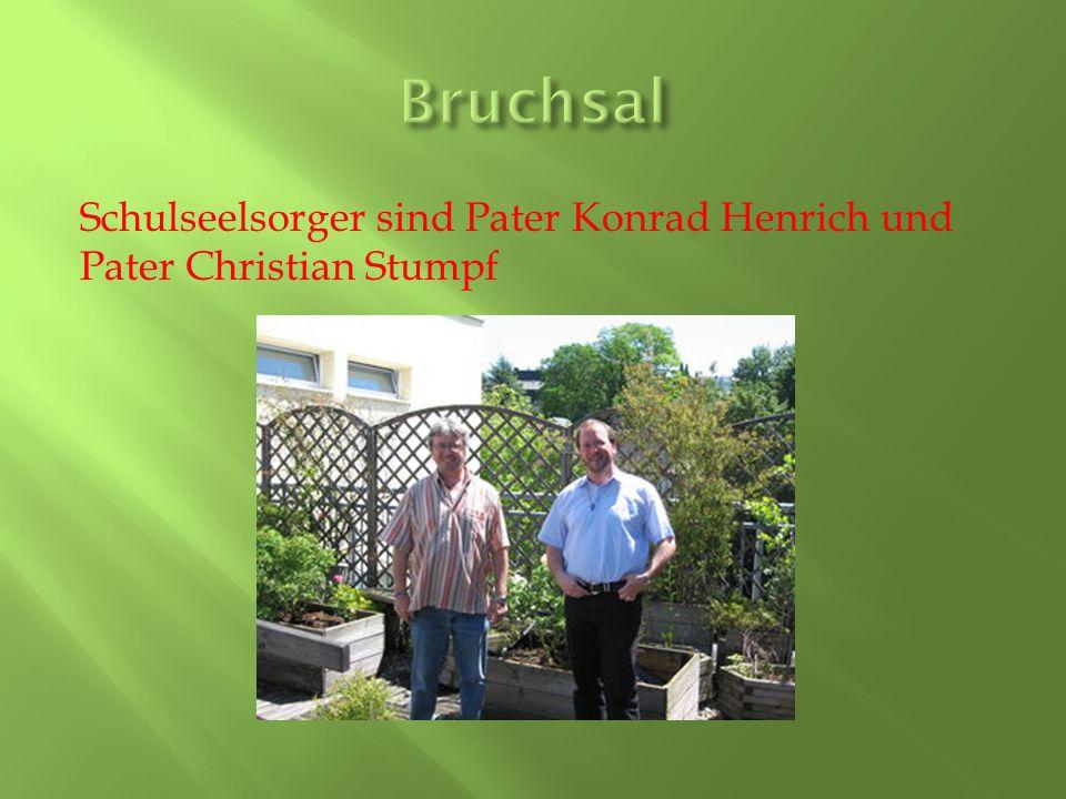 Bruchsal Schulseelsorger sind Pater Konrad Henrich und Pater Christian Stumpf