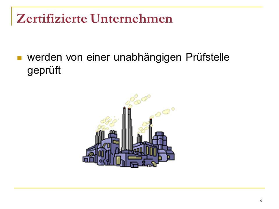 Zertifizierte Unternehmen