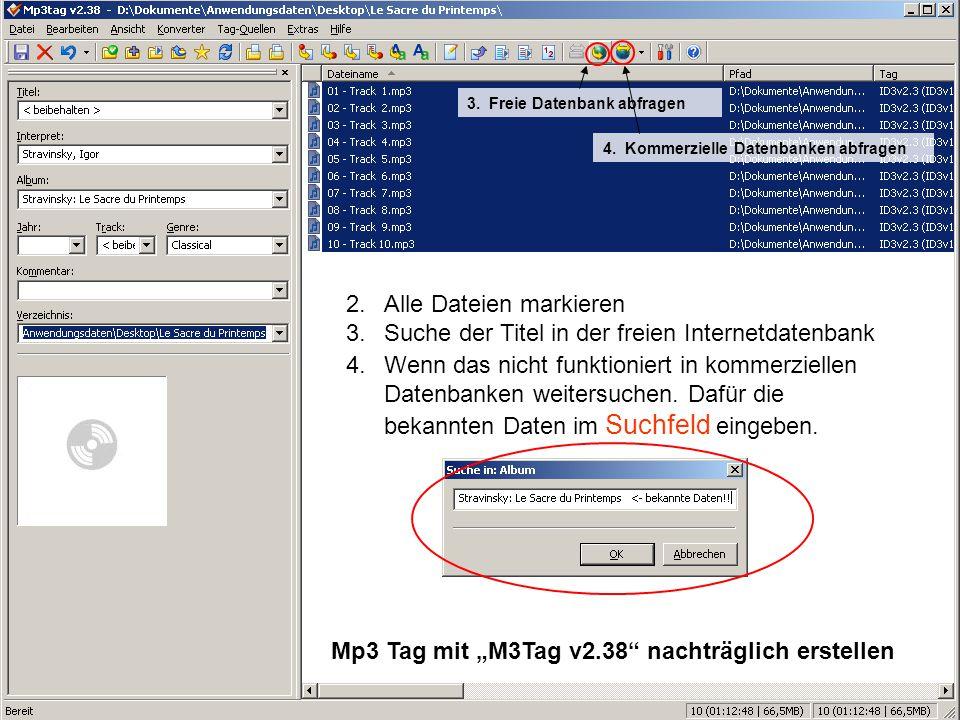 Alle Dateien markieren Suche der Titel in der freien Internetdatenbank