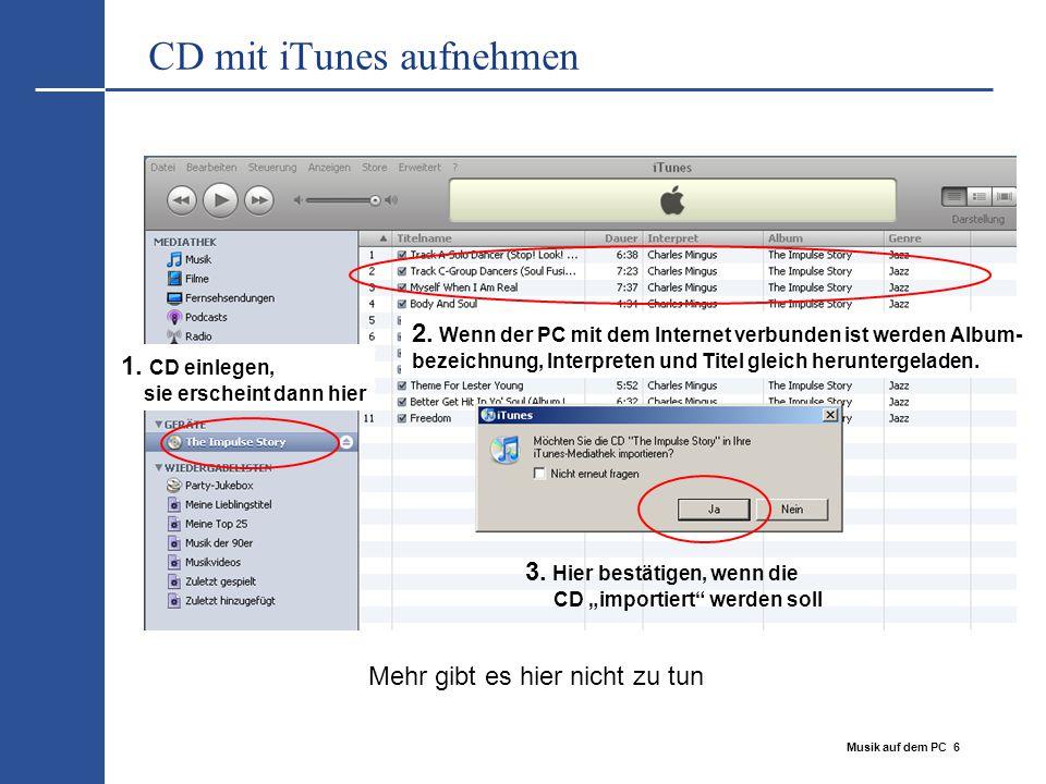 CD mit iTunes aufnehmen