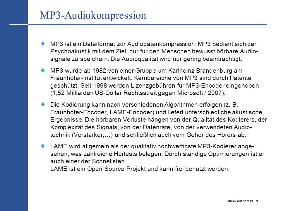 MP3-Audiokompression