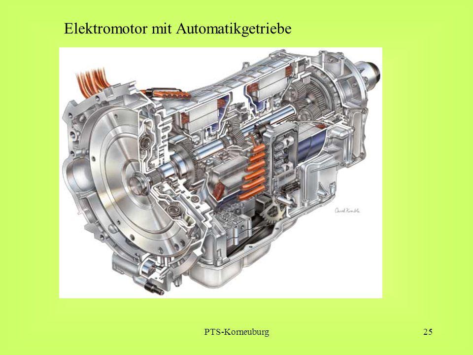 Elektromotor mit Automatikgetriebe