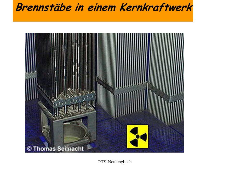 Brennstäbe in einem Kernkraftwerk