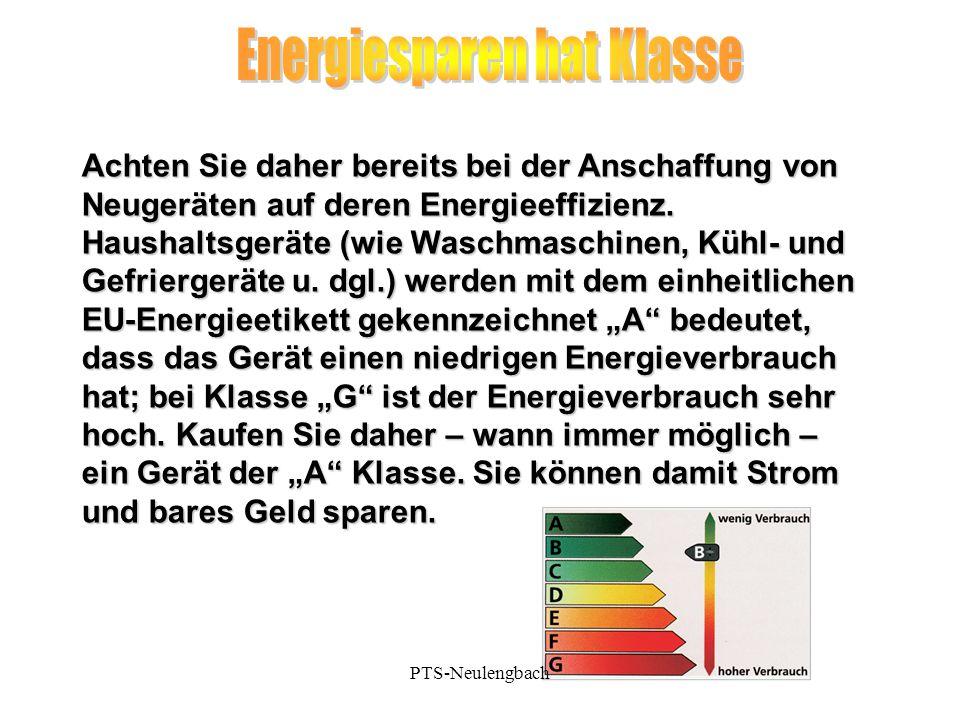 Energiesparen hat Klasse