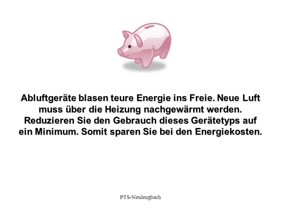 Abluftgeräte blasen teure Energie ins Freie