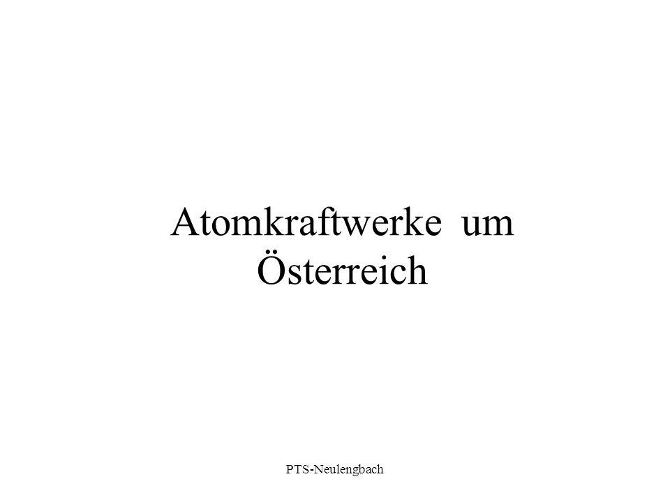 Atomkraftwerke um Österreich