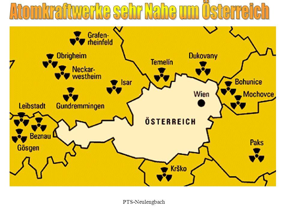 Atomkraftwerke sehr Nahe um Österreich