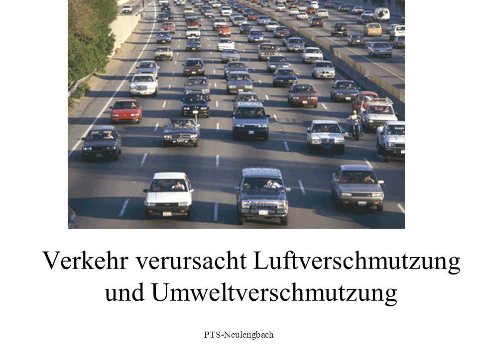 Verkehr verursacht Luftverschmutzung und Umweltverschmutzung