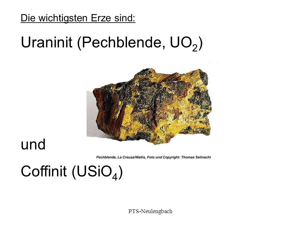 Uraninit (Pechblende, UO2)