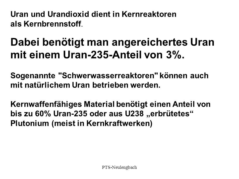 Uran und Urandioxid dient in Kernreaktoren