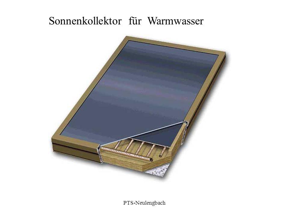 Sonnenkollektor für Warmwasser