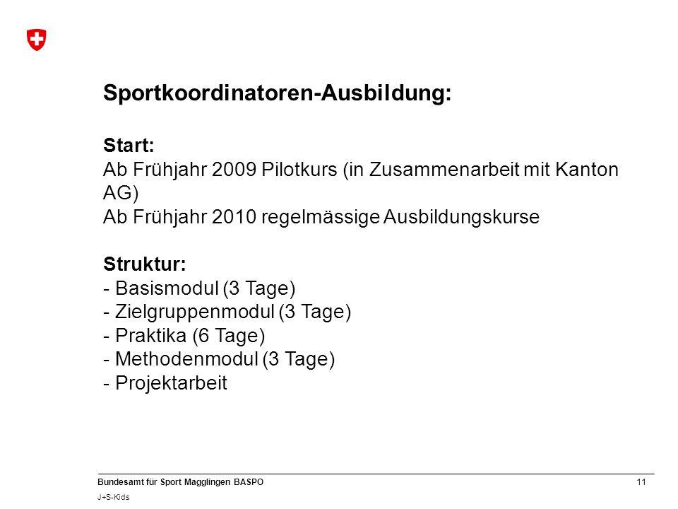Sportkoordinatoren-Ausbildung: