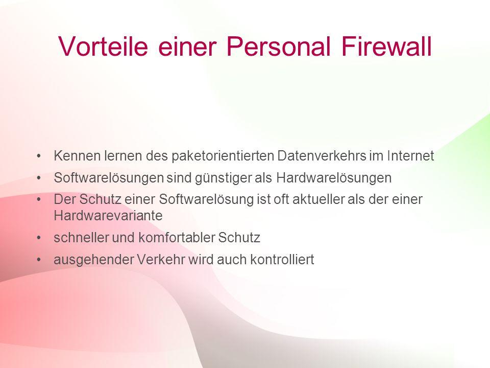 Vorteile einer Personal Firewall