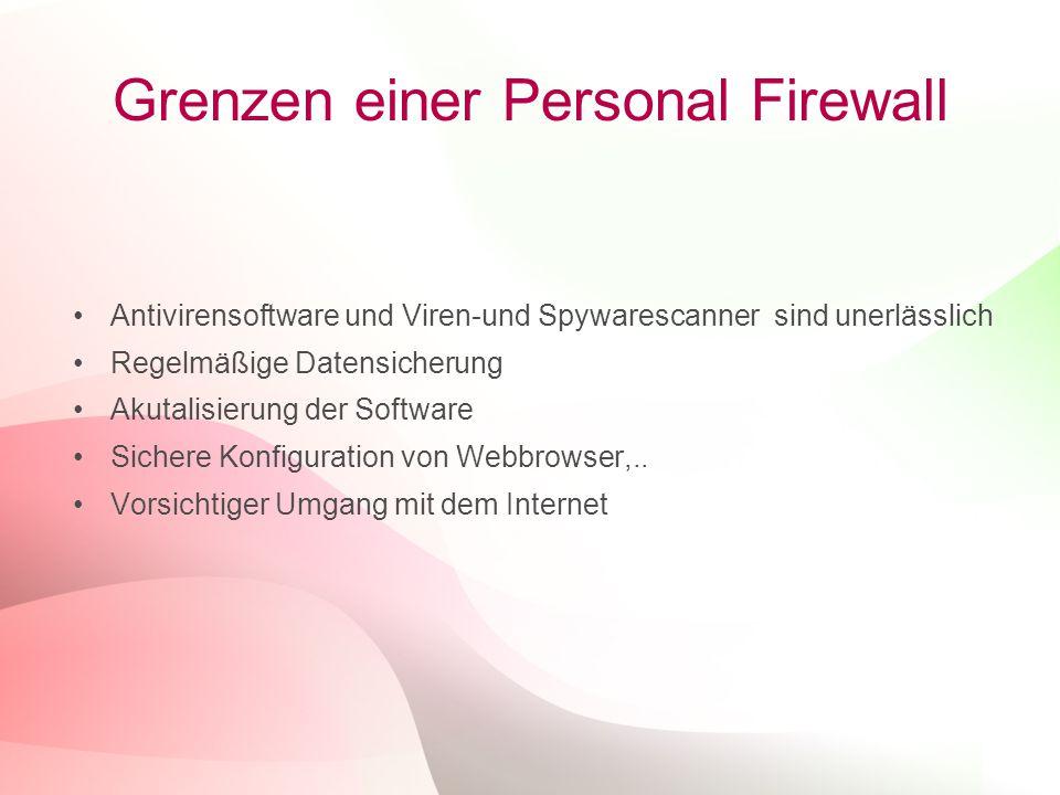 Grenzen einer Personal Firewall